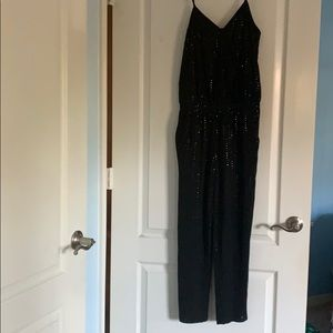Black sequenced jumpsuit